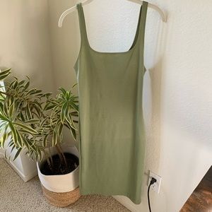 Green Form Fitting Mini Dress